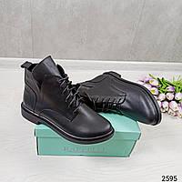 Ботинки Демисезонные женские черного цвета. Женские ботинки осень-весна