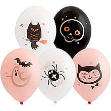 "Латексный шар с рисунком хэллоуин гламур 14 ""Belbal"
