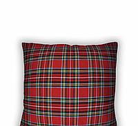 """Новогодняя подушка """"Шотландская клетка"""""""