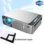 Проектор мультимедийный WI-Fi +экран Wi-light T6 Full HD проектор для домашнего кинотеатра и школы., фото 2