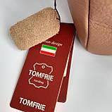 Сумка женская коричневая Tomfrie 11775, фото 6