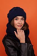 Женская вязаный набор : шапка и шарф - хомут из акрила 61mgo271, фото 1