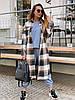 Довге Жіночі пальта - сорочка в клітку на гудзиках з вовни (р. 42-46) 36mpa312