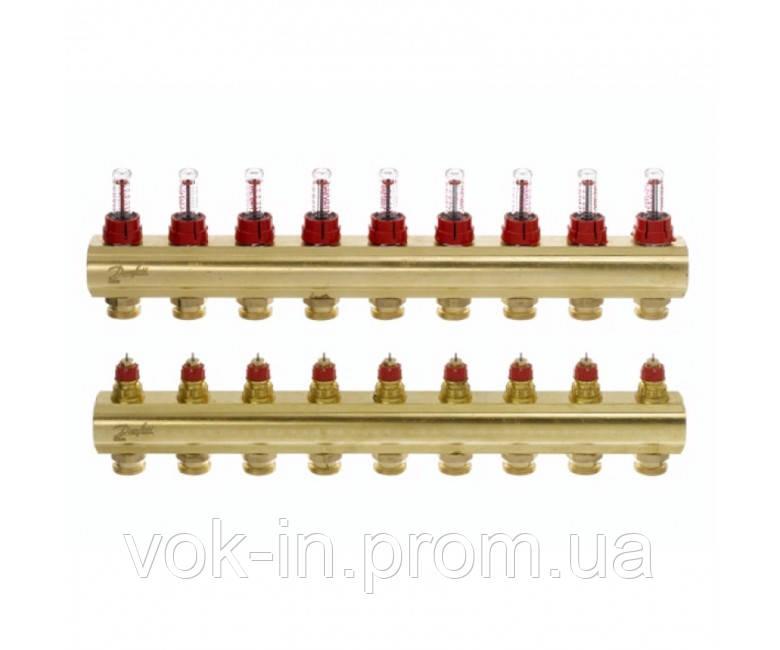 Колектор з витратоміром 9 виходів DANFOSS FHF-9F 088U0529
