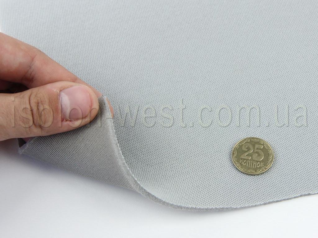 Високоякісна стельова тканина (Туреччина, сіра - 16123), на поролоні і сітці