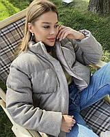 Женская зимняя короткая куртка из Женские пальтовой ткани на утеплителе (р. 42-46) 22mku493, фото 1