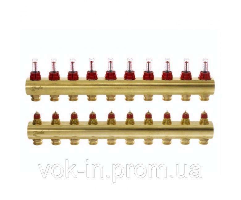 Колектор з витратоміром 10 виходів DANFOSS FHF-10F 088U0530