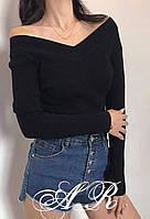 Женская теплая кофта из ангоры рубчик с V-образным вырезом горловины (р. 42-44) 79dmde969, фото 1