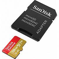 Карта пам'яті SanDisk 128GB Micro-Extreme SDXC A2 SD адаптер