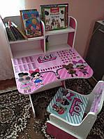 Детская парта растишка от производителя со стульчиком Лол LOL Парты школьные 2401 и детские