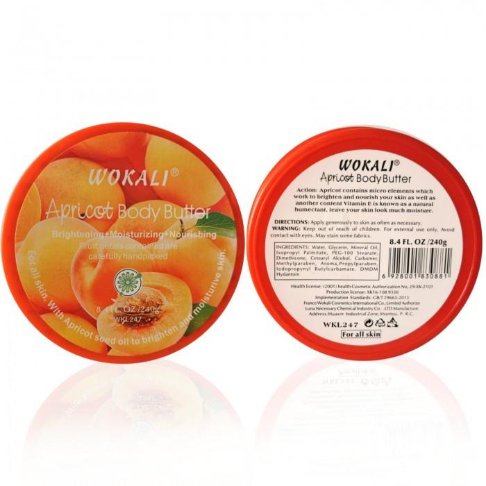 Крем для тела на основе масла WOKALI Apricot Body Butter 240 мл