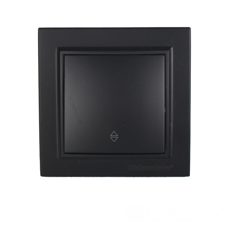 ElectroHouse Выключатель проходной Безупречный графит Enzo IP22