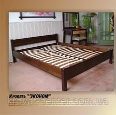 """Кровать белая """"Эконом"""". Массив - сосна, ольха, береза, дуб., фото 2"""