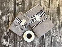Полотенце банное + полотенце для лица серые