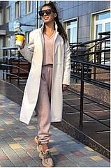 Пальто жіноче NOBILITAS 42 - 48 бежевий кашемір (арт. 20042)