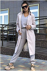 Пальто жіноче NOBILITAS 42 - 48 пудра кашемір (арт. 20042)