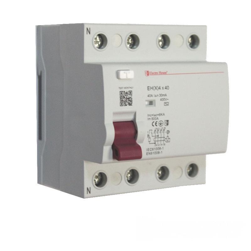 ElectroHouse УЗО 4P 40A 100mA 230-400V IP20