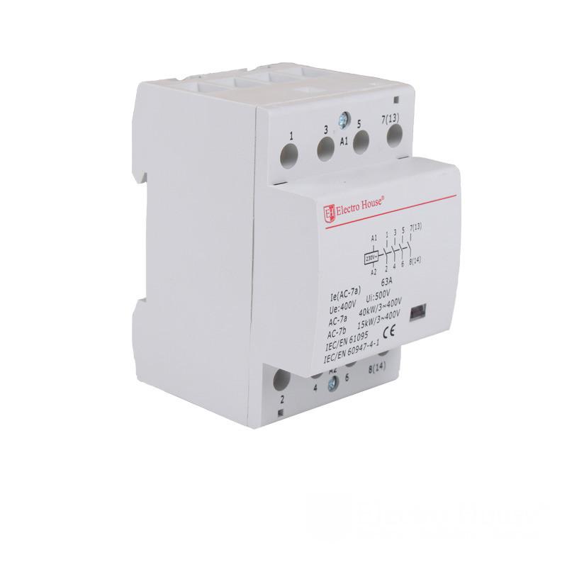ElectroHouse Контактор модульный 4P 63A 220-230V IP20 4НО