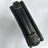 Сумка-мессенджер мужская черная, фото 4