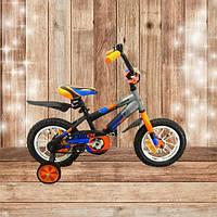 """Детский велосипед Азимут STITCH А 12"""" Оранжево- черный"""