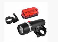 Велосипедный фонарь с габаритом 812-5LED