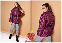 Куртка женская с поясом супер батал в расцветках 80594, фото 1