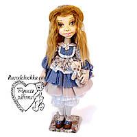 Кукла ручной работы, текстильная, самая большая 60см с шарнирами шея, руки, ноги