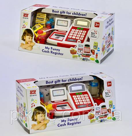 Детская игровая касса с микрофоном и калькулятором, свет, звук Подарок для девочки, фото 2
