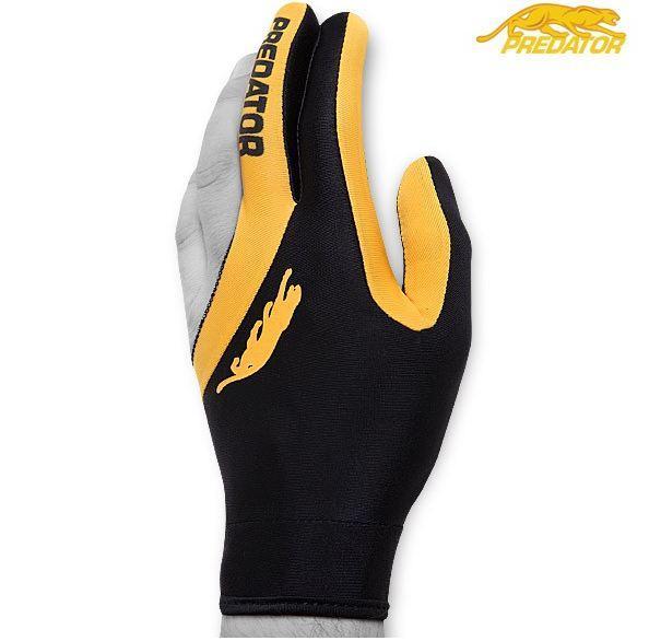 Перчатка для игры в бильярд Predator в черно - желтом цвете из лайкры