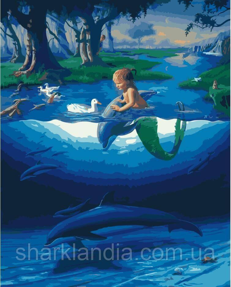 Картина по Номерам Дельфины 40х50см RainbowArt
