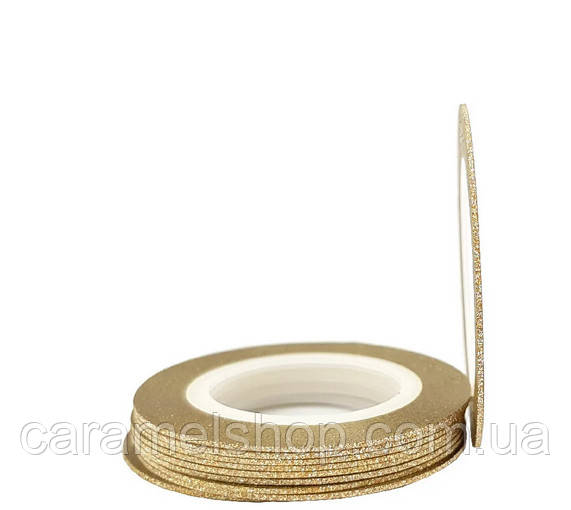 Сахарная нить для дизайна ногтей 1 мм золото
