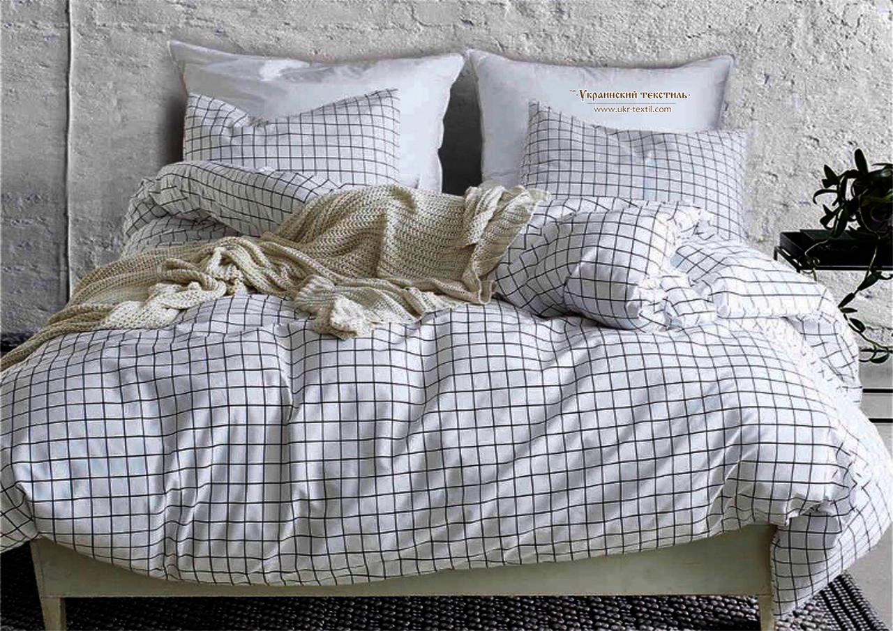Комплект постельного белья Бязь Ранфорс 100% хлопок Клетка светлая