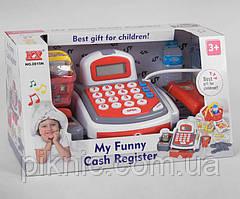 Детский кассовый аппарат: калькулятор, продукты, звук, свет, на бат-ке Игрушечная касса для детей