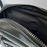 Сумка-мессенджер мужская черная, фото 2