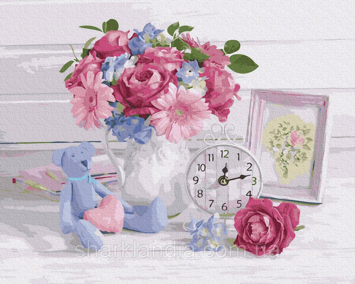 Картина по номерам Цветочный прованс 40х50см RainbowArt  Цветы Букет Пионы