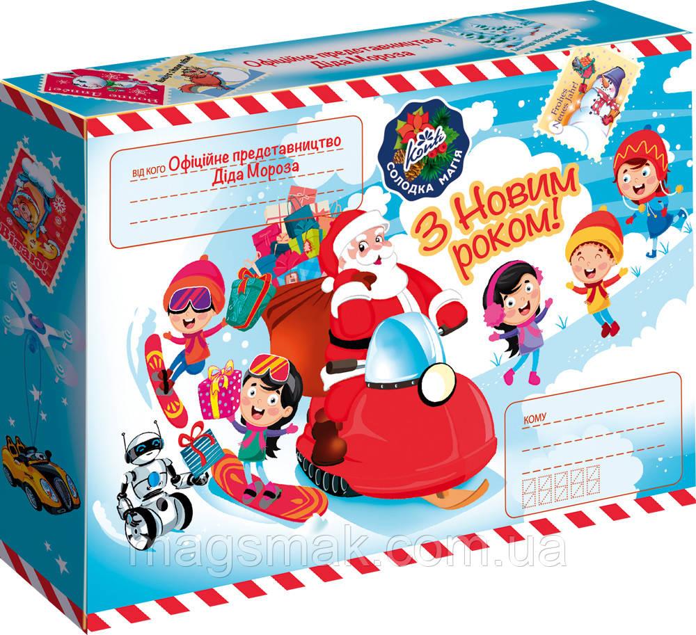 """Подарунок новорічний Конті """"Офіційне представництво Діда Мороза"""" 320г"""