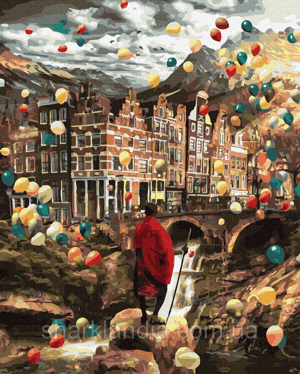 Картина по номерам Тайные миры 40х50см RainbowArt Воздушные шарики