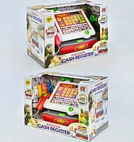Игрушечная касса с аксессуарами для детей, звук, свет, на батарейках. Касса игрушка, детский кассовый аппарат