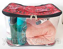 Прозора сумочка ручної роботи із силіконової плівки і водонепроникної тканини.