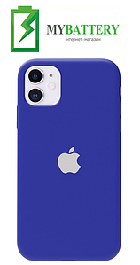 Чехол Silicone Case original (чехол-бампер) iPhone 11 синий (3)