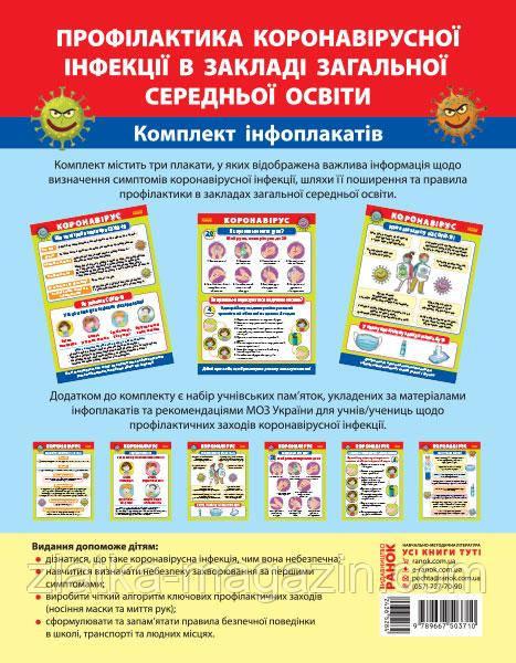 Гноінська О. Плакати. Профілактика короновірусної інфекції в закладі загальної середньої освіти