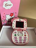 Детский Мини Мобильный Телефон HELLO KITTY (РОЗОВЫЙ), фото 7