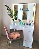 Туалетный столик Box Standart с зеркалом и LED подсветкой