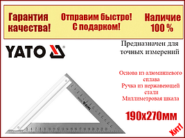 Угольник столярный металлический 190х270мм Yato YT-70781