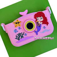 20 MP фотоаппарат для детей с фронтальной камерой Русалка Ариель