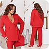 Діловий брючний костюм жіночий червоний (3 кольори) НФ/-16361