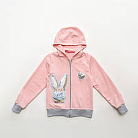 Розовая кофта для девочки р.98,104,110,116,122 SmileTime детская Shiny Bunny, розовая, фото 1