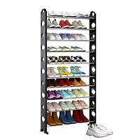 Стійка підставка органайзер для зберігання взуття Shoe Rack 10 полиць
