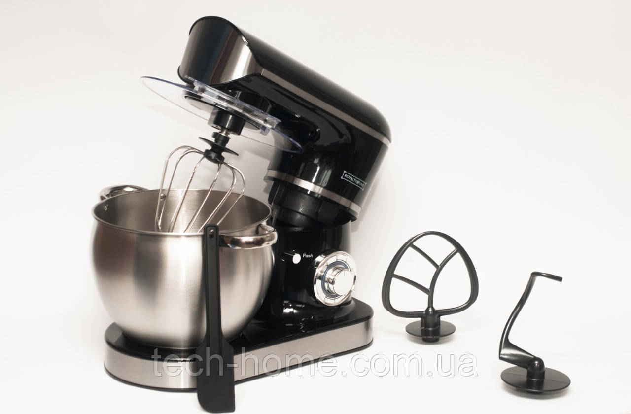 Кухонний комбайн, тістоміс ROYALTY LINE RL - PKM 2200.472.9 BLACK (2200 Ватів)