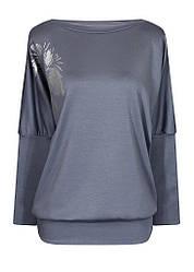 Женская стильная кофта Лилея больших размеров с вырезом